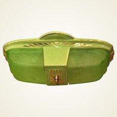 Green Porcelier 2 Shade Porcelain Fixture