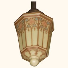 Vintage Church Fixture in Today's Craftsman Colors