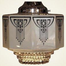 Signed Art Deco Fostoria Shade