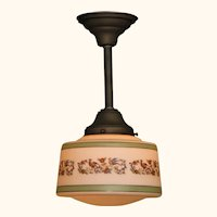 Spanish Revival Drum Ceiling Fixture