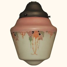 Deco Floral Design Globe with Pink Top
