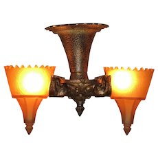 Tudor Gothic Short  Serpentine 2 Light Fixture