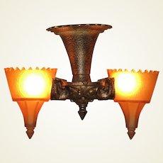Tudor Gothic Short  Serpentine 2 Light Fixture