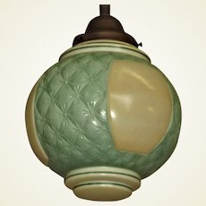Pleated Glass MCM Ceiling Fixture