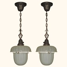 Two c.1915 Kitchen Pendants