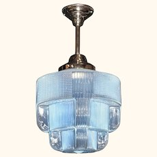 Iconic Art Deco Ice Blue Fixture Large