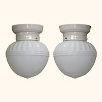 Vintage Milk Glass Fixture 20s - 30s Priced each