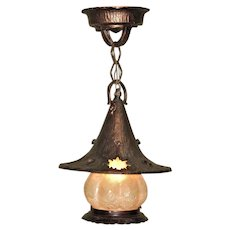 Storybook Style Witches Hat Porch Light Vintage
