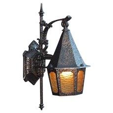Vintage Storybook Tudor Bungalow Porch Light