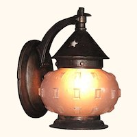 Cast Iron Pot Belly Porch Light c.1920. 2 available priced each