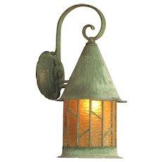 """Large 15"""" Copper Porch Light"""