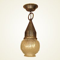 Storybook Porch Fixture with Warty Gourd Shade