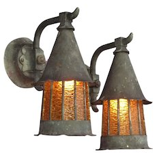 Single Only Copper Tudor Storybook Porch Lights