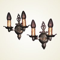 Dogs Head 2 Bulb Vintage Wall Sconces