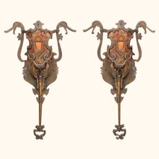 Vintage bronze Sconces Revival Style 4 pair available.  VintageLights