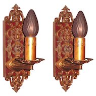 Pair 1920s French Inspired Sconces in Original Finish