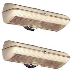 Pair Streamline Deco Bath Sconces.  Happy to split pair. Free LED bulbs