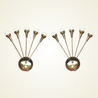 Pair Mid-Century Wall Sconces