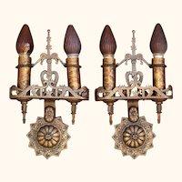 Bronze 1920s Revival Style Sconces