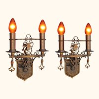 2+ Pair Bronze Spanish Revival Style