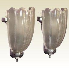 Vintage Art Deco Sconces 3+ pair available