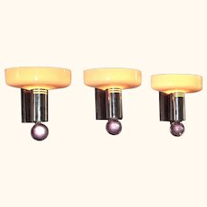 Mid Century Moderne Sconces set of 3