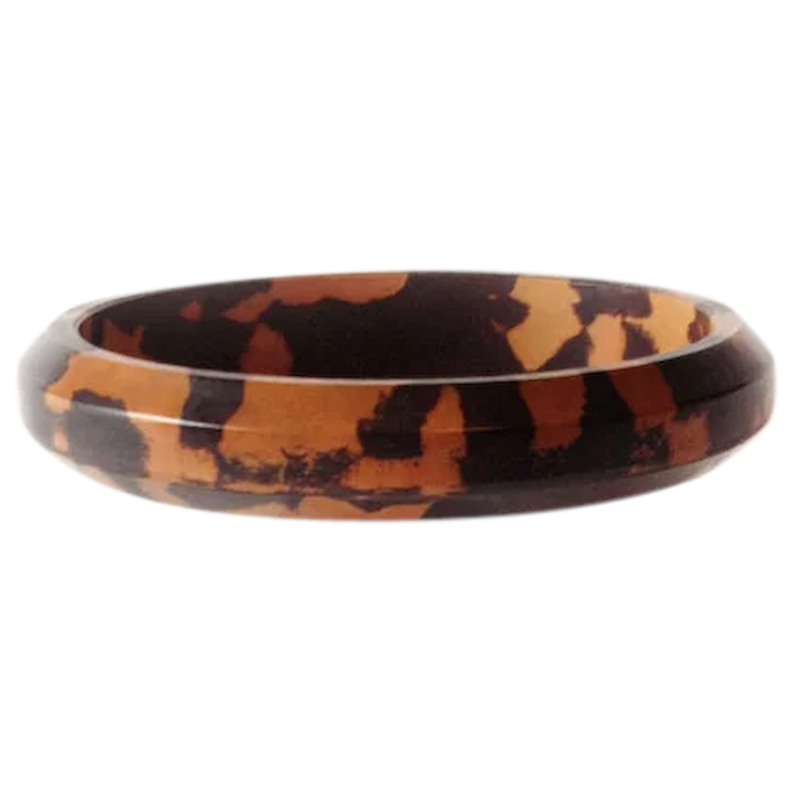 ec483ea16ebda Rare Vintage Bakelite Bangle Two-toned Mottled Bracelet Bangle