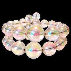 Lucite Fluorescent Bubble Stretchy Bracelet