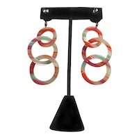 Cellulose Acetate Dangle Earrings