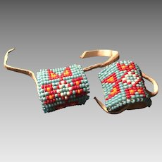 Beaded Leather Pony Tail Holders