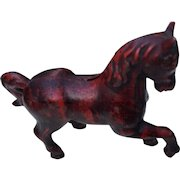 Vintage Cast Iron Horse Bank Statue Figural