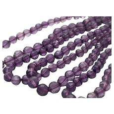 "39"" Faceted Graduating Amethyst Stone Bead Necklace"