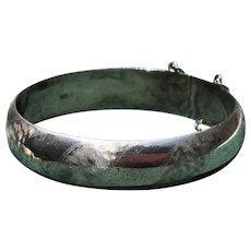 Sterling Silver Hinged Bangle Bracelet Vintage
