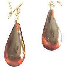 Natural Baltic Amber Drop Earrings
