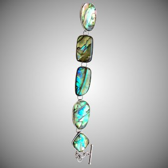 Amazing Colors Shell Bracelet in Sterling Men or Women
