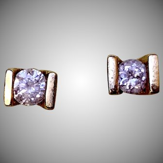14K Yellow Gold Round .40TCW Diamond Stud Earrings