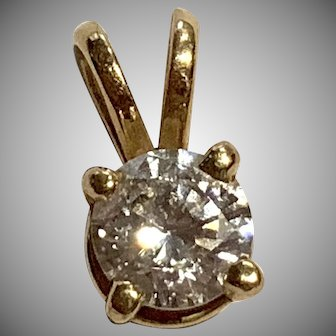 .20 Carat Diamond Pendant 14Kt Yellow Gold