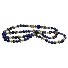 Lovely 28 Inch Lapis Necklace