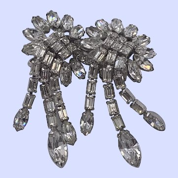 Lovely Vintage Weiss Waterfall Dangle Earrings