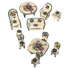 Limoges French 11 piece Small Dollhouse Furniture