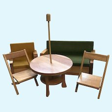 1950's Strombecker Wood Doll Furniture For Ginny, Muffie Dolls