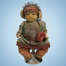 Japanese All Bisque Baby With Original Factory Clothing