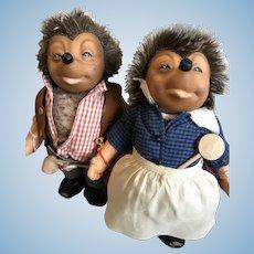 "Steiff Micki and Mecki 10 1/2"" Hedgehogs"