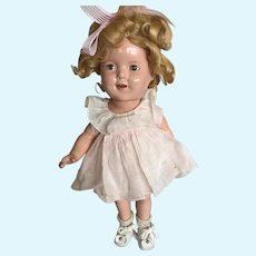 """13"""" Composition Ideal Shirley Temple, Original Dress And Onsie"""