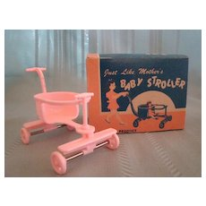 """Darling Vintage Pink Baby Stroller """"Just Like Mothers"""" by Jeryco"""