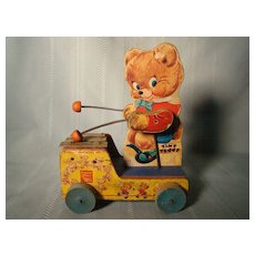 Vintage Fisher Price Tiny Teddy #634 1955-57