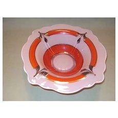 Art Deco Style Glass Center Console Bowl