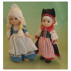 Vintage 1960's Vogue Ginny Dolls Scandinavia Netherlands