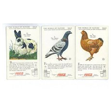 3  The World of Nature Coca-Cola Advertising Trade Cards Boy Scouts BSA