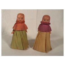 Rare 1930's Pair of Winnie Walker Ramp Walker Dolls Toys